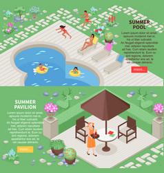 landscape design banners set vector image