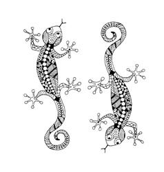 Lizard zenart for your design vector