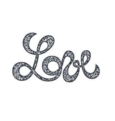 Love lettering stamp vector image