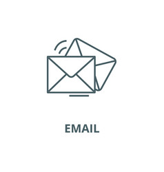mailemailenvelope line icon linear vector image
