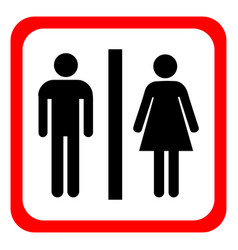 Man and woman icons toilet sign restroom vector