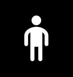 man glyph icon and male symbol vector image