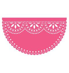 Mexican fiesta template design papel picado vector