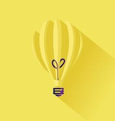 minimalistic idea lightbulb concept in flat design vector image