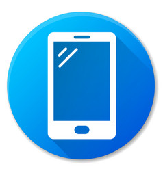 Mobile phone blue circle icon vector