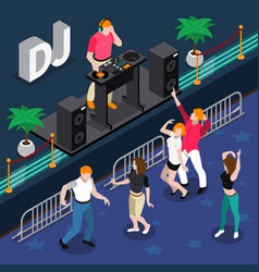musicians isometric composition vector image