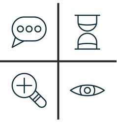 network icons set collection of glance message vector image