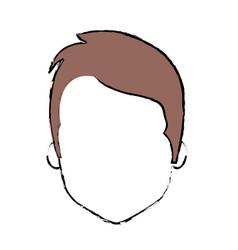 Nice man face with haistyle vector