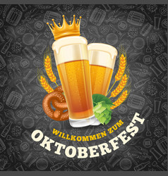 Oktoberfest menu template vector