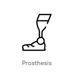 Outline prosthesis icon isolated black simple vector