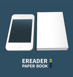 Paperbook electronic book template vector