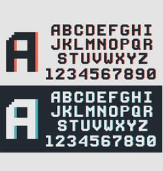 pixel game retro font vector image