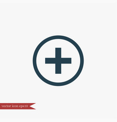 plus icon simple vector image