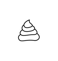 poop crap icon vector image