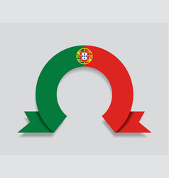 Portuguese flag rounded abstract background vector