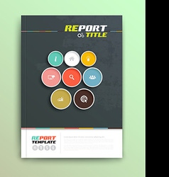 Presentation of brochure cover design template vector