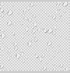 Realistic pure and transparent water drops set vector