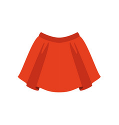 Red skirt fashion women clothes vector