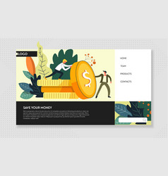 save money web page business strategy internet vector image