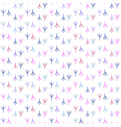 seamless pattern background in colorful traces of vector image