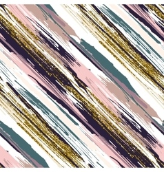 Seamless pattern with gold glitter textured vector