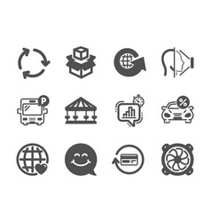 Set technology icons such as refund commission vector