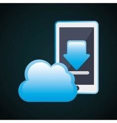 Smartphone and cloud icon Gadget design vector image