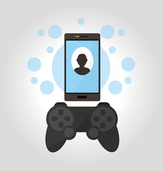 smartphone videogames technology vector image