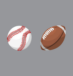 sport balls isolated tournament win round baseball vector image