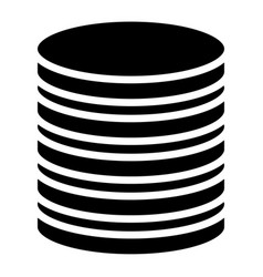 Stacked circles symbol archive webhosting vector