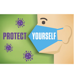 stop coronavirus concept vector image