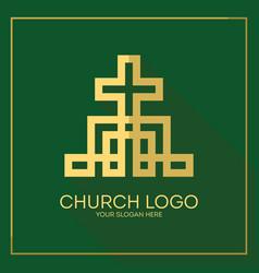 Stylish cross of jesus christ vector