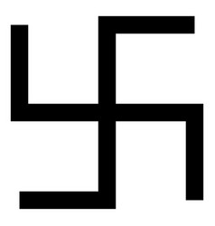 Swastika fylfot icon black color flat style vector
