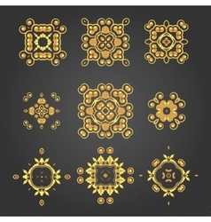 swirl pattern set 2 vector image