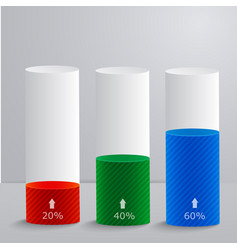 template with a group columns percent downloads vector image
