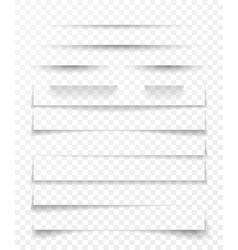 Transparent realistic paper shadow effect set web vector