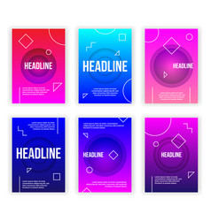 trendy flyer modern poster concept set vector image