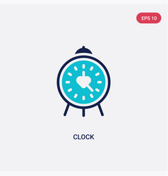 Two color clock icon from blogger and influencer vector