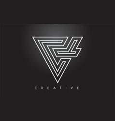 v letter monogram design logo letter v icon logo vector image