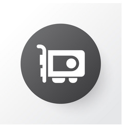 Video card icon symbol premium quality isolated vector