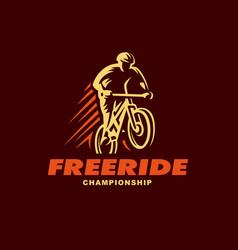 Vintage and modern biking logo badges vector