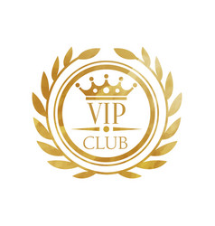 vip club logo luxury golden badge for club vector image