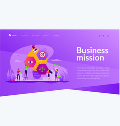 Vision statement landing page template vector