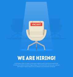 we are hiring banner template with empty vacant vector image