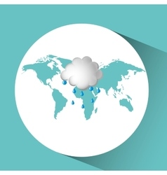 weather concept forecast cloud rain icon design vector image