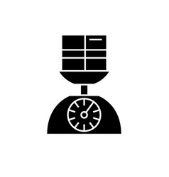 weight scale black concept icon weight vector image