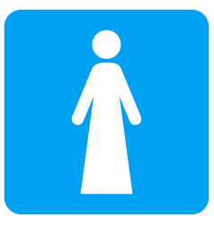 woman rounded square icon vector image