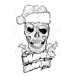 Xmass tattoo skull vector
