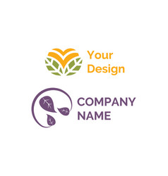 your design and company name logotype icons set vector image