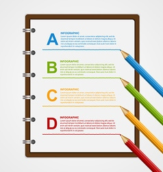Education Infographics design template vector image vector image